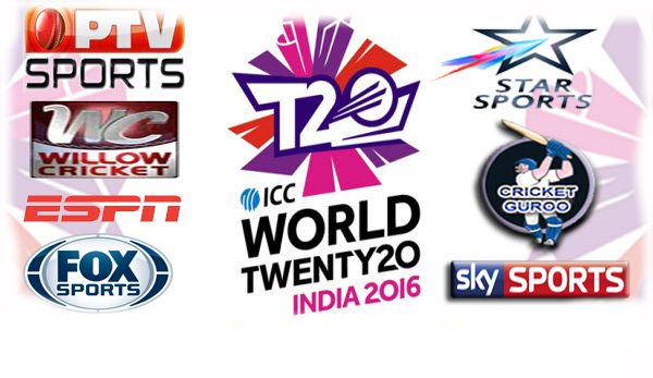 T20 World Cup 2016 TV Channels for Live Streaming